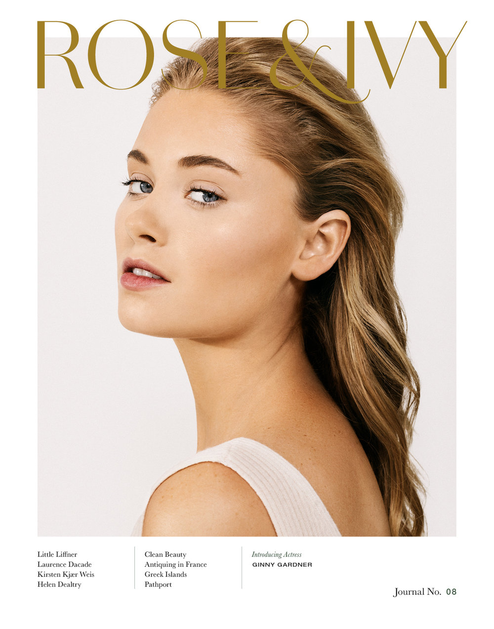 ROSE & IVY Journal Introducing Issue No.08 Starring Actress Ginny Gardener