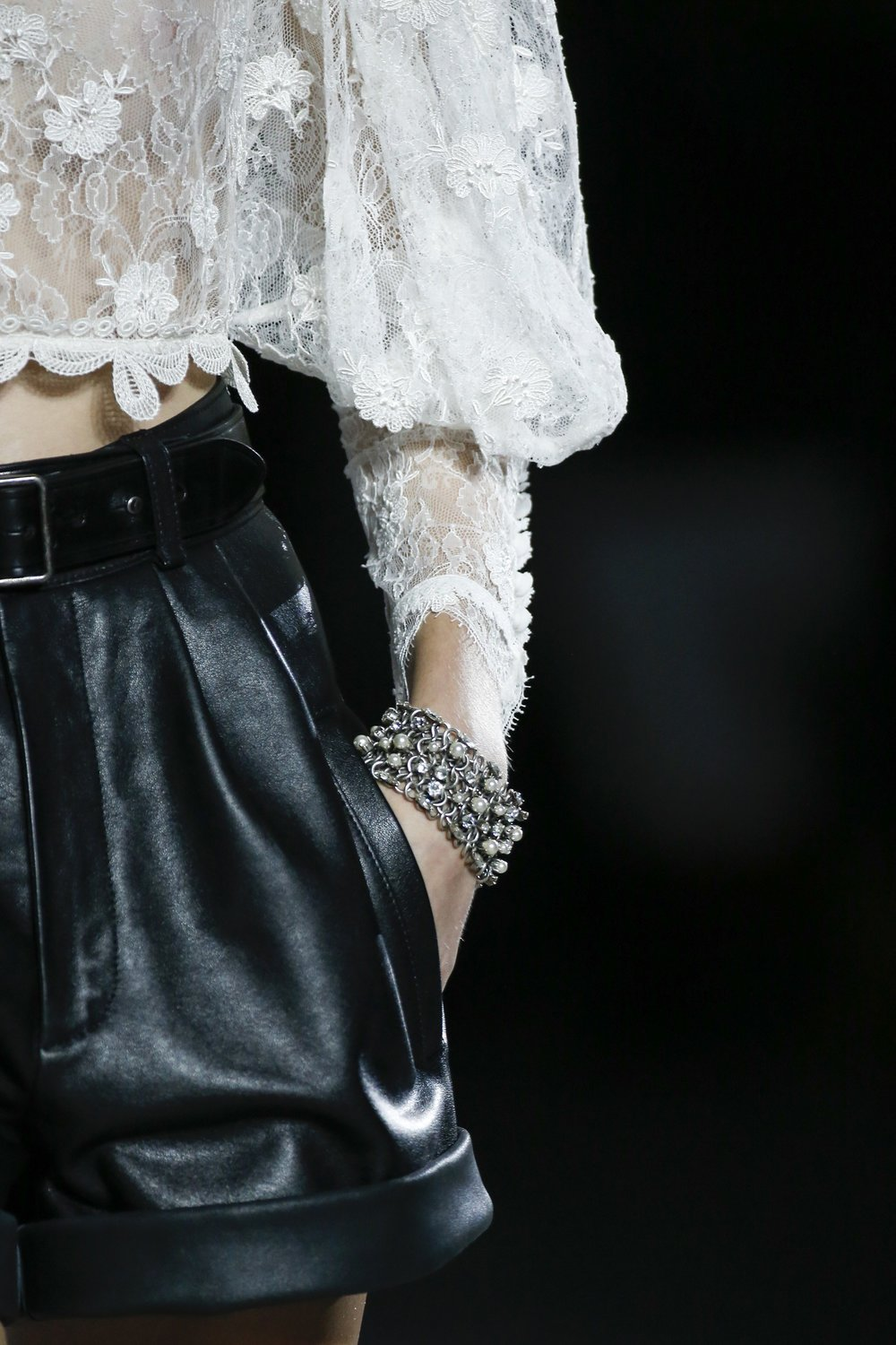 Saint Laurent's Lace - The Stunning Details from Spring 2018