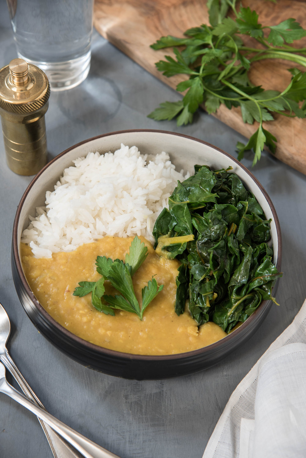 ROSE & IVY Journal Yellow Dal with Swiss Chard