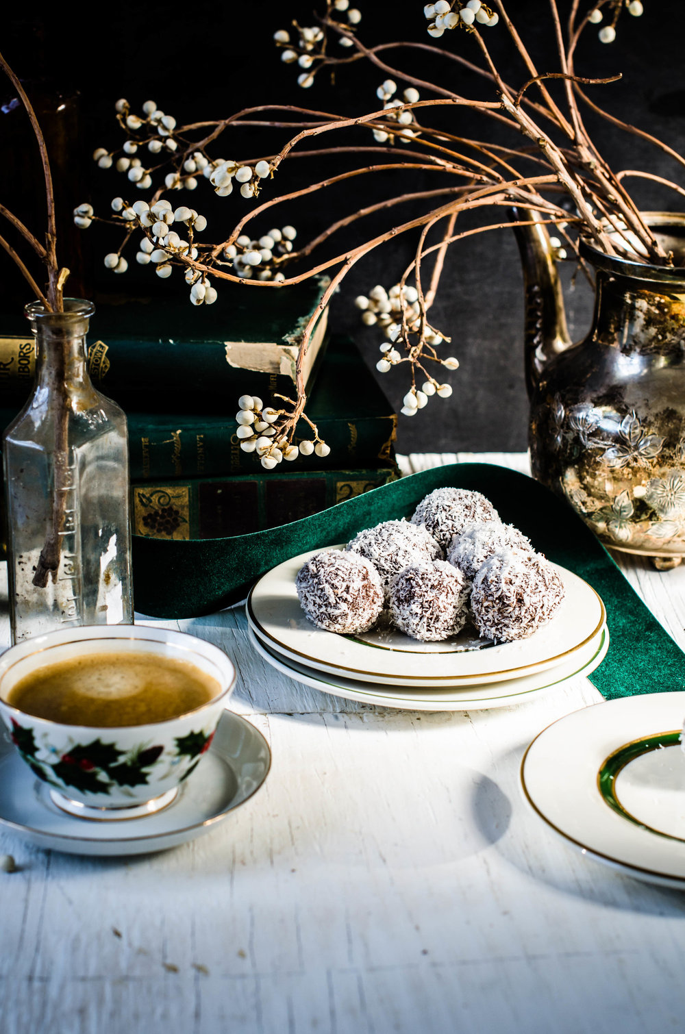 Salted Coconut Truffles -