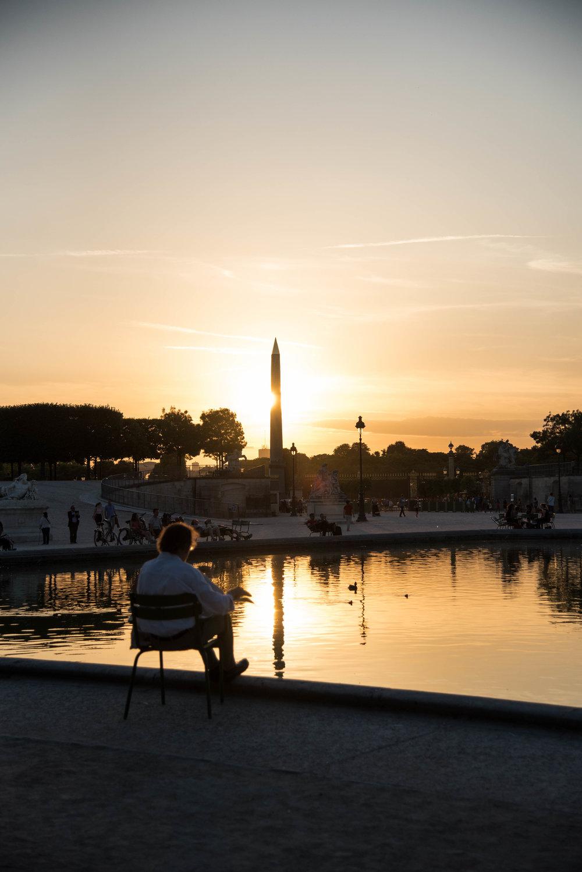 The Golden Hour in the Tuilleries - Walking Toward the Light in Paris