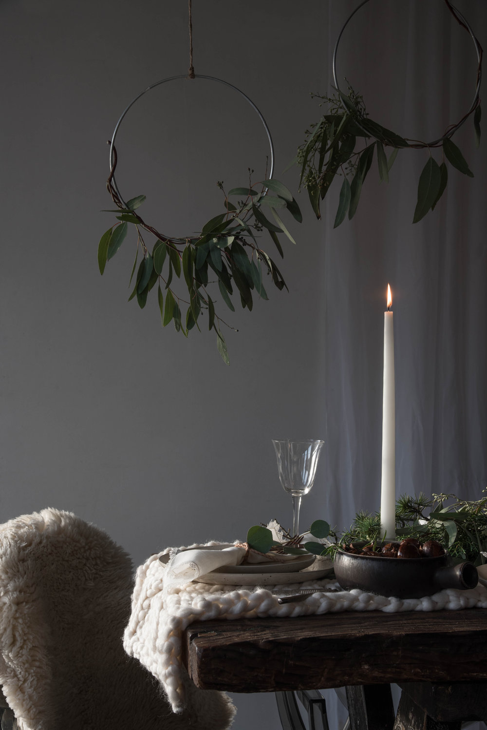 ROSE & IVY Journal Winter Light A Holiday Table Setting