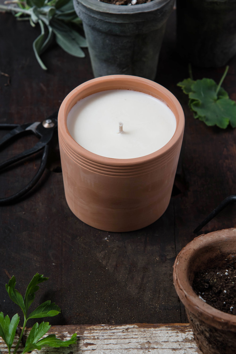 ROSE & IVY Journal Holiday Gift Guide For the Farmers Market Aficionado P.F Candle Co. Geranium
