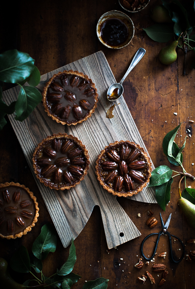 Pecan & Chocolate Caramel Coconut Shortbread Tarts - The Kitchen McCabe