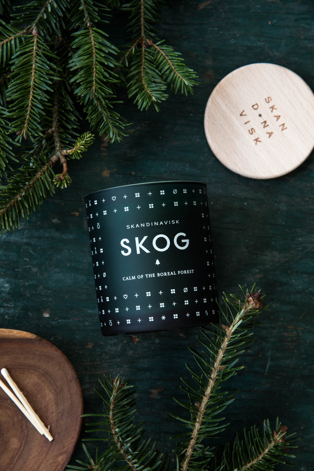 ROSE & IVY Journal Creating Cozy Festive Candles That Smell Like the Holidays Skog