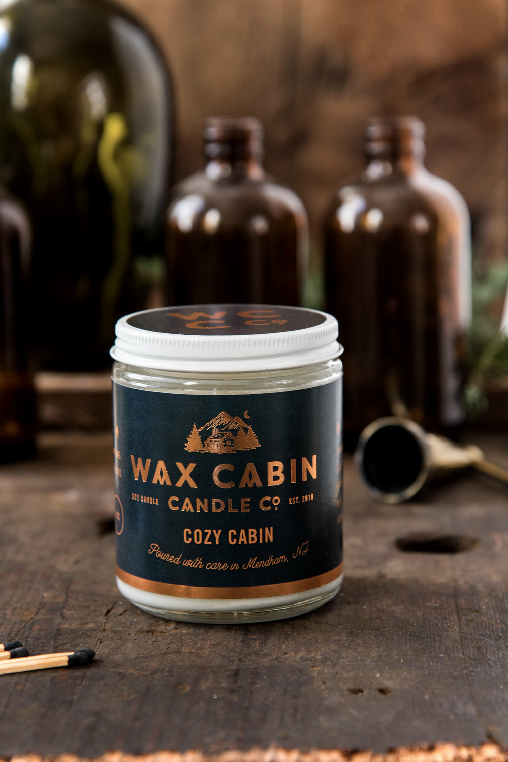 ROSE & IVY Journal Creating Cozy Festive Candles That Smell Like the Holidays Wax Cabin Candles