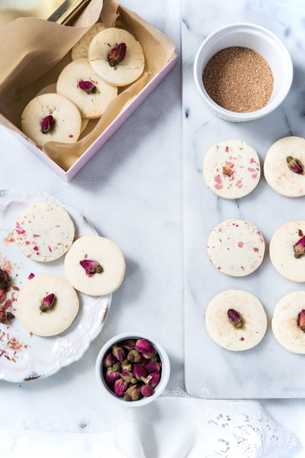 Rose Sugar Cookies -