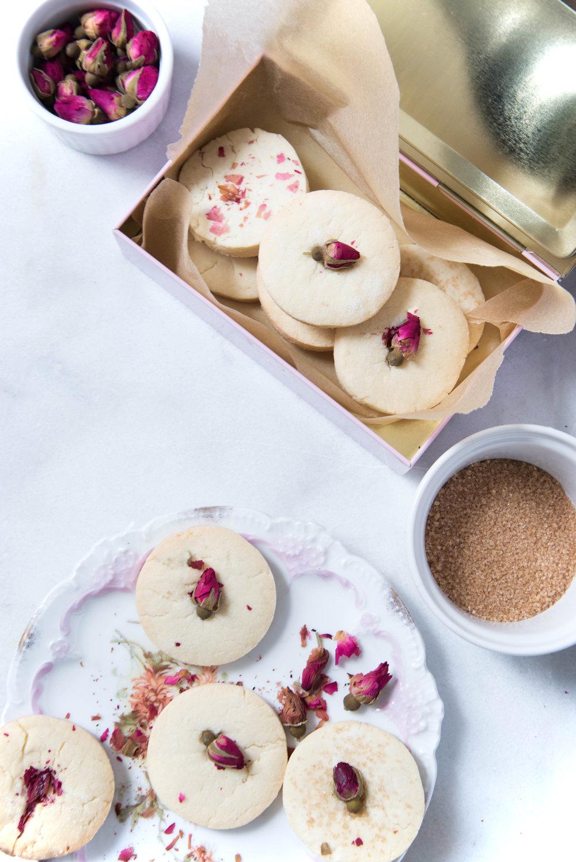 Rose Sugar Cookies -
