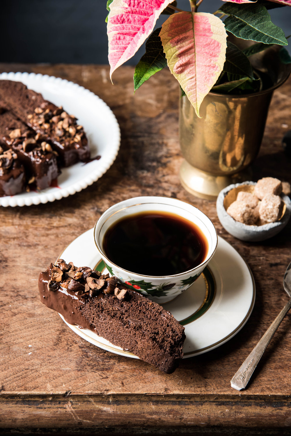 Double Chocolate Biscotti With Hazelnuts - A Holiday Chocolate Treat