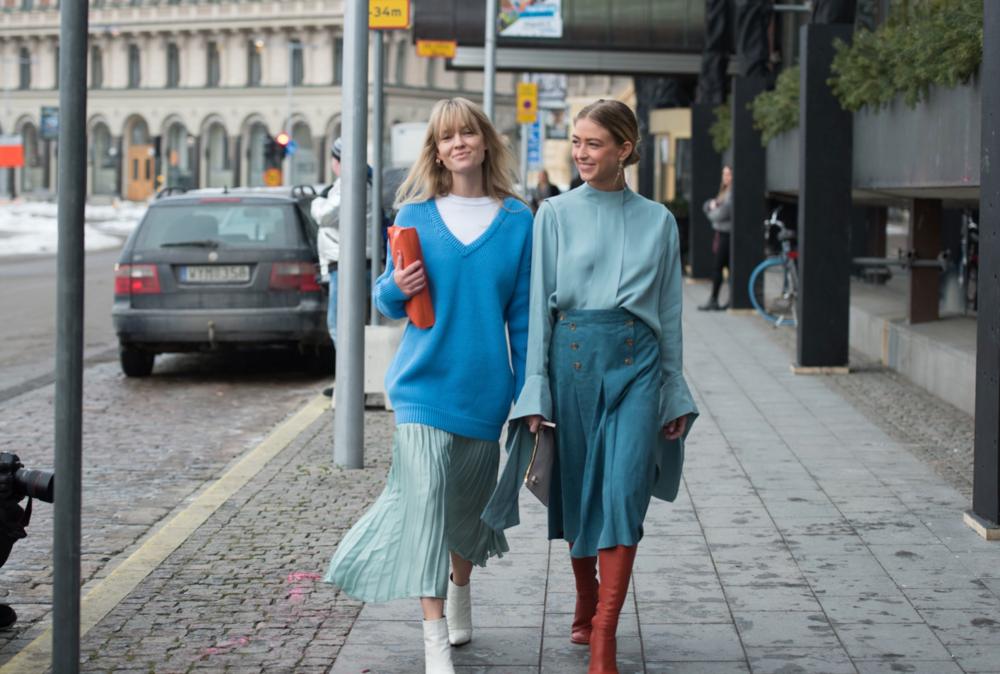 ROSE & IVY Journal Shades of Blue Style Inspiration Stockholm Fashion Week