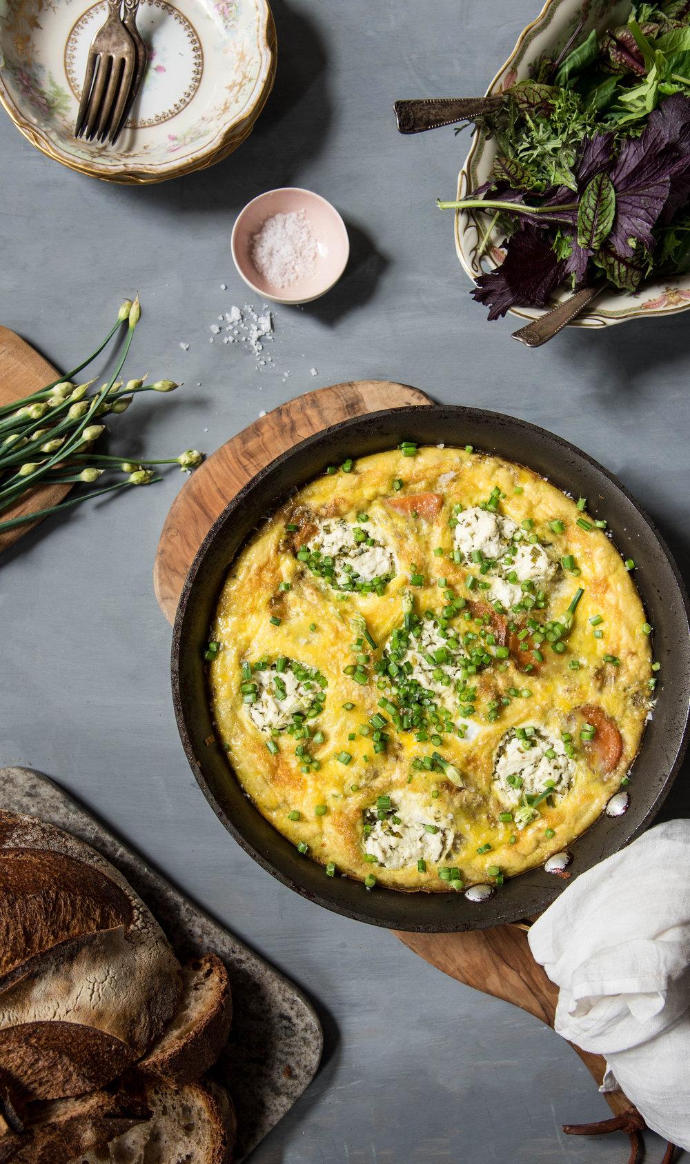 Sweet Potato & Goat Cheese Frittata - An Easter Brunch Idea