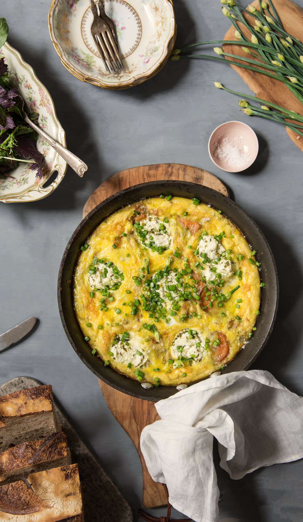 ROSE & IVY Journal Easter Brunch | Sweet Potato and Goat Cheese Frittata