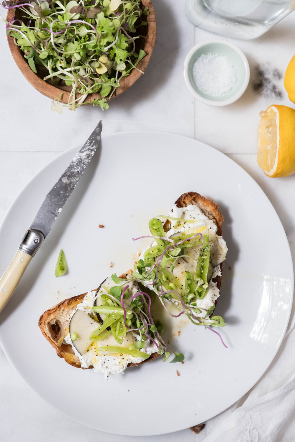 ROSE & IVY Journal Ricotta Toasts Two Ways | Sweet + Savory Spring Crunch