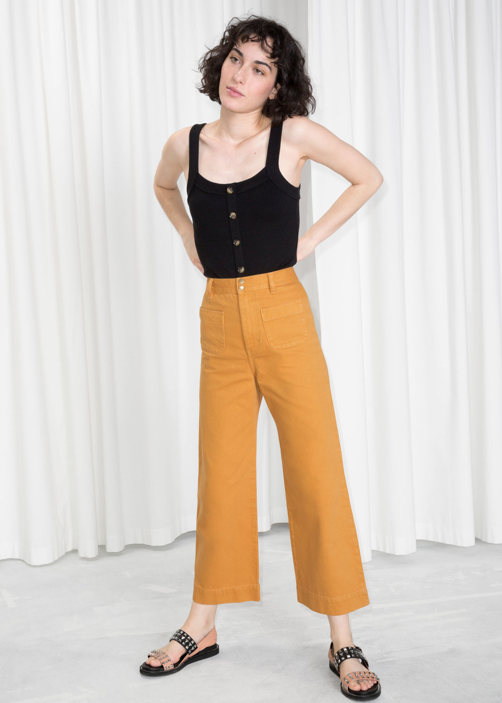 Twill Mustard Pants - The Find | Courtesy of & Other Stories