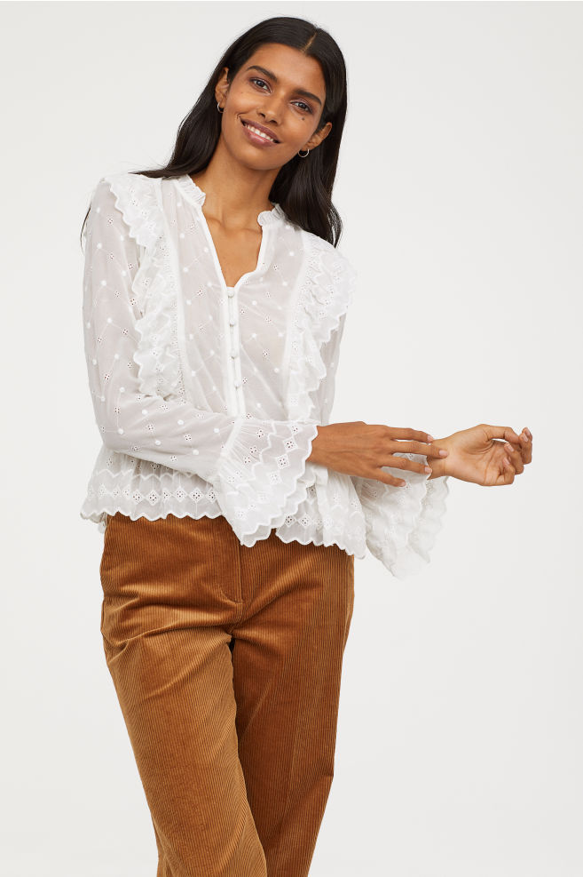 ROSE & IVY Journal The Find An Eyelet Blouse H&M