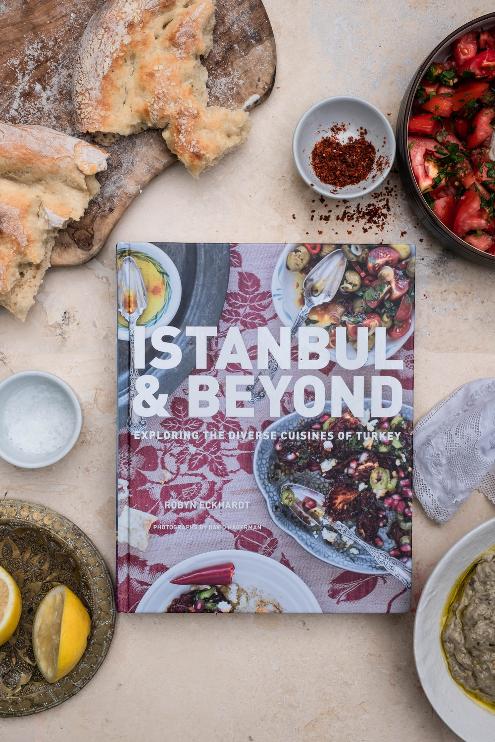 ROSE & IVY Journal Cook the Book | 'Istanbul and Beyond' + Baba Ganouj & Fingerprint Flatbread (Tirnak Pidesi)