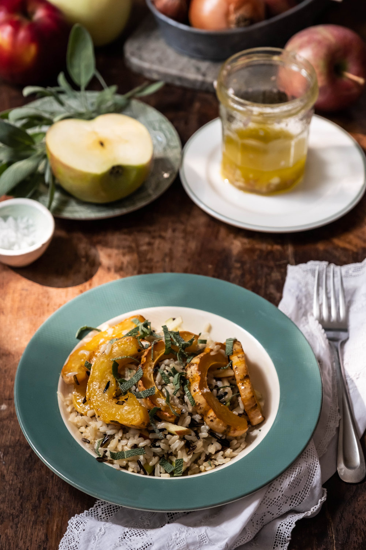 ROSE & IVY Journal Delicata Squash, Apple and Sage Grain Bowl