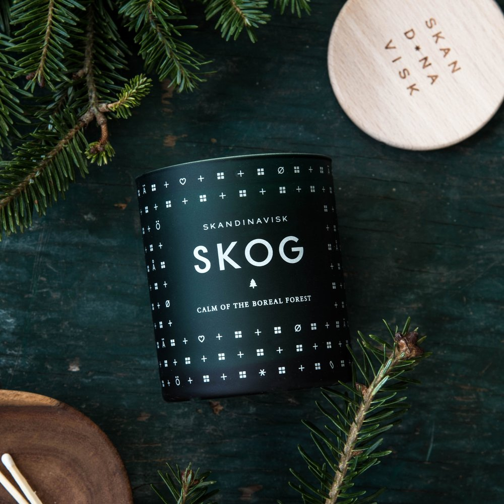 CREATING COZY - Festive candles like smell like the holidays.