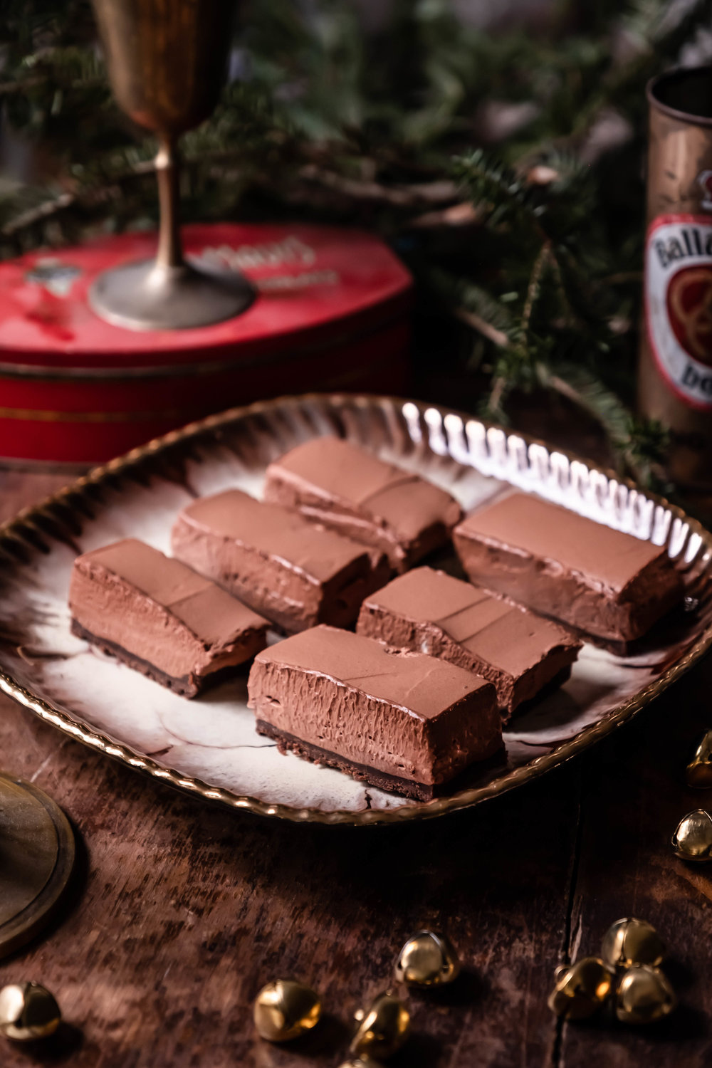 ROSE & IVY Journal Holiday Baking | Chocolate Peppermint Mousse Bars