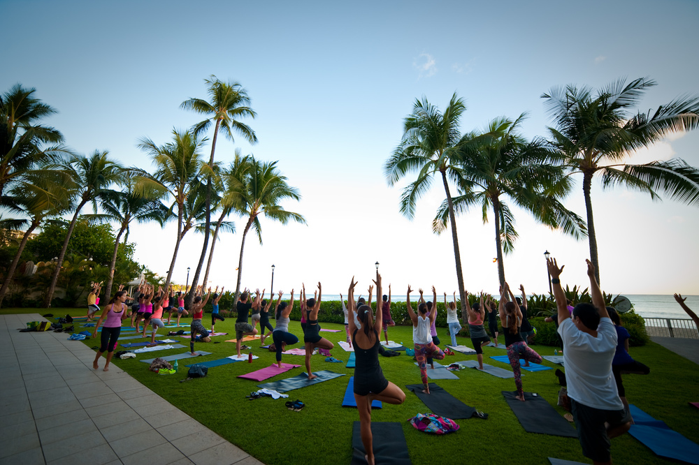Vino & Vinyasa at Moana Surfrider