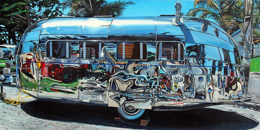 Airstream Clipper Profile (2014) acrylic on canvas 36x18 Taralee Guild (low res).JPG