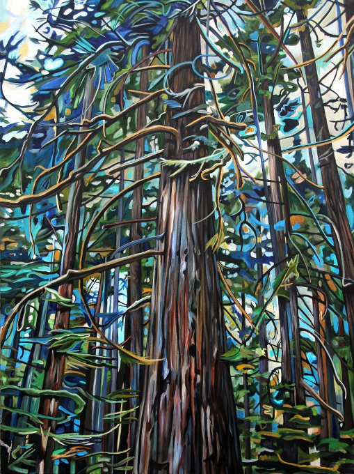 Tofino Rain Forest (2013) 40x30 acrylic on canvas Taralee Guild (low res).JPG