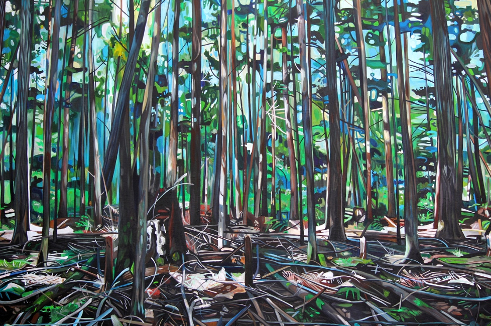 Galiano Forest Floor (2012) - 60x40 acrylic on canvas Taralee Guild (preview).JPG