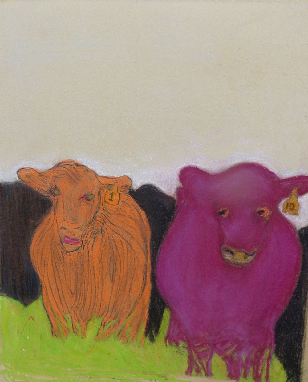Orange Cow ― Purple Bull by Susanne Vincent