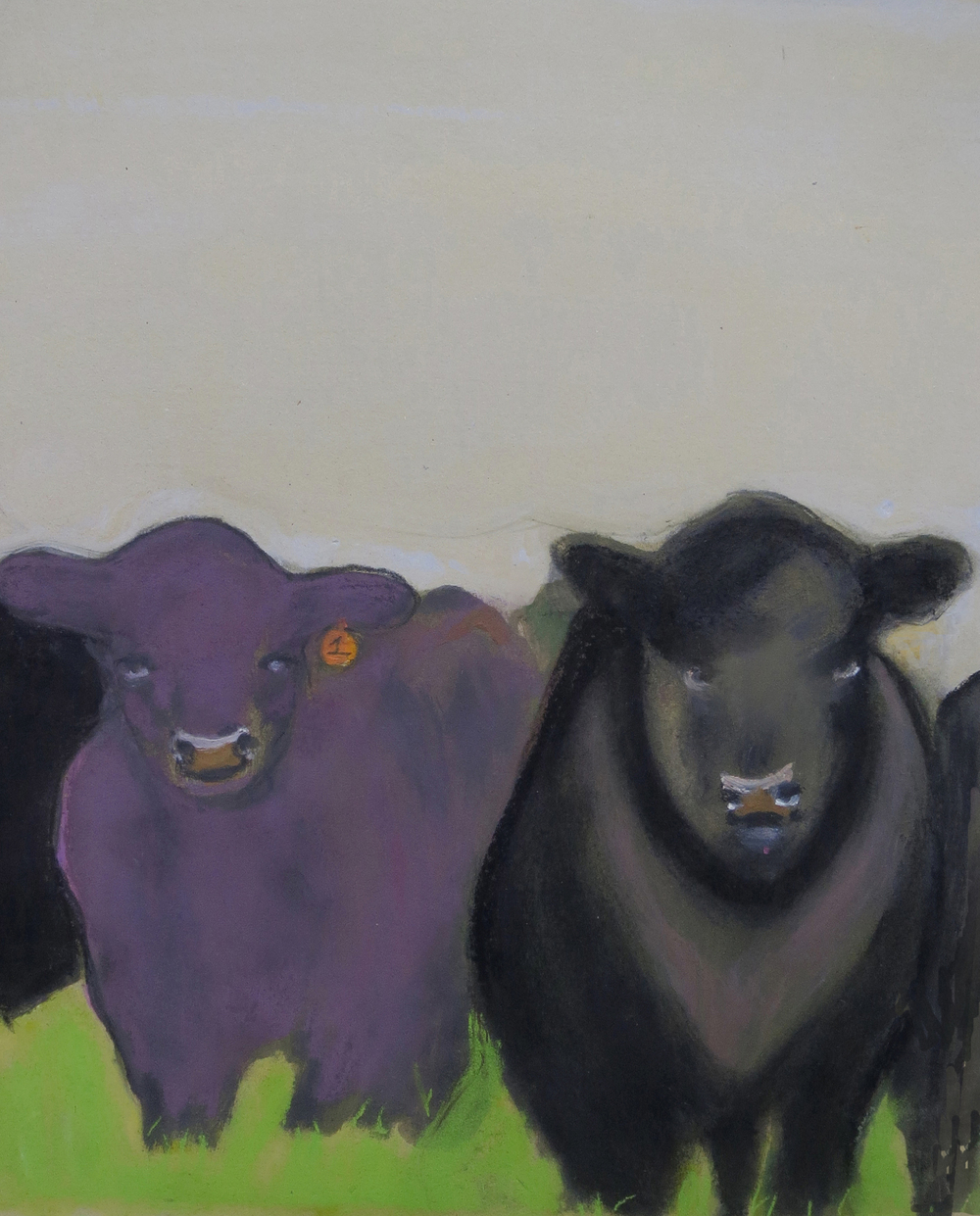 Purple Cow-Black Bull by Susanne Vincent