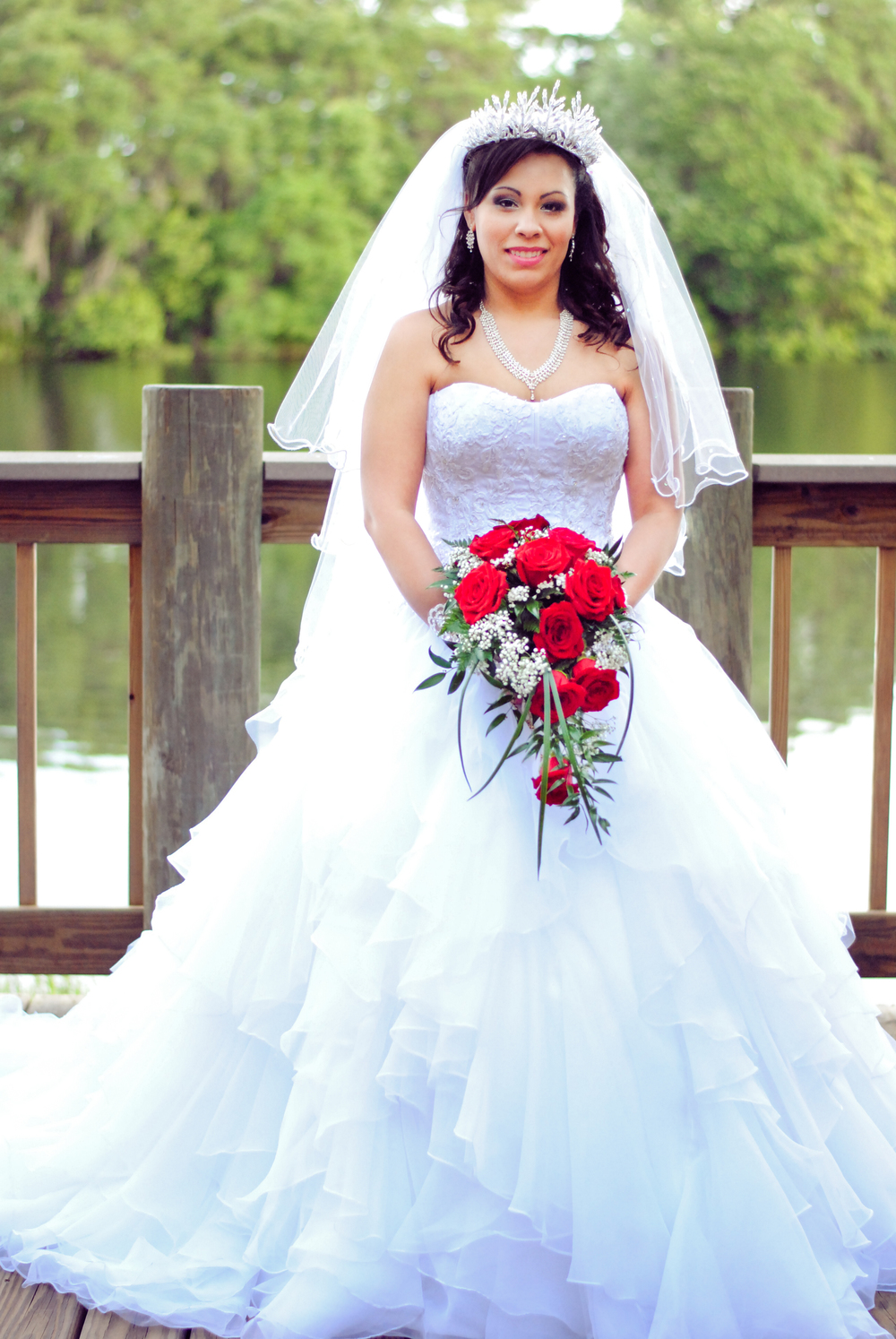 The Bride in her Gown