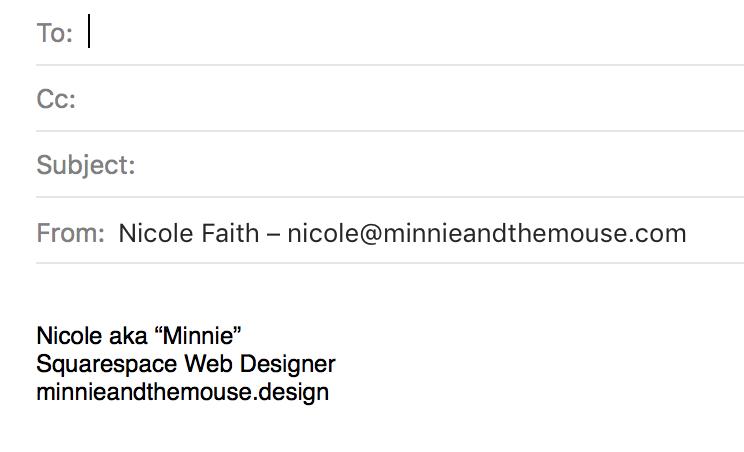 My email signature.