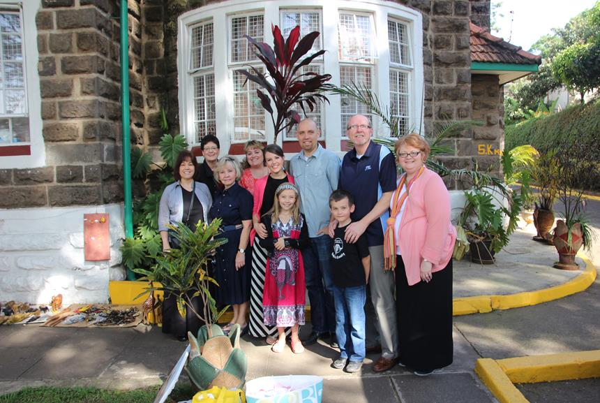 Team Zebra 2016. with Emily and PJ Holmertz and their children, Aiden and Sarah. This team traveled to Kenya in February, 2016 to help withthe AIM (African Inland Mission) MissionaryWomen's Retreat!  Brenda and her husband, Don gave leadership to this year's team.  Don serves on staff at Valley Church as Global Outreach Pastor.  Brenda supports and serves along side of Don and also teaches nursing at a local college.  She is a gifted musician and has a heart of pure gold!  If you think you might be interested in finding out more about Team Zebra 2017, please contact Debi Lydic at debil@valley-church.com