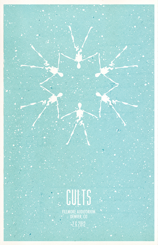 CULTS GIG POSTER