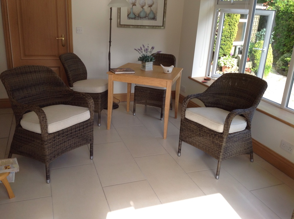 New interior foams, shaped cushions on four of the arm chairs