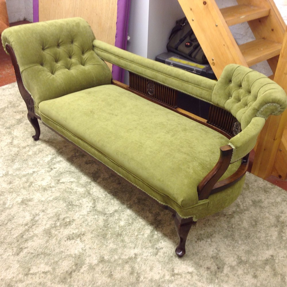 Fabric Kirkby Design Crush 3 colour moss! Client was so thrilled with the result!!