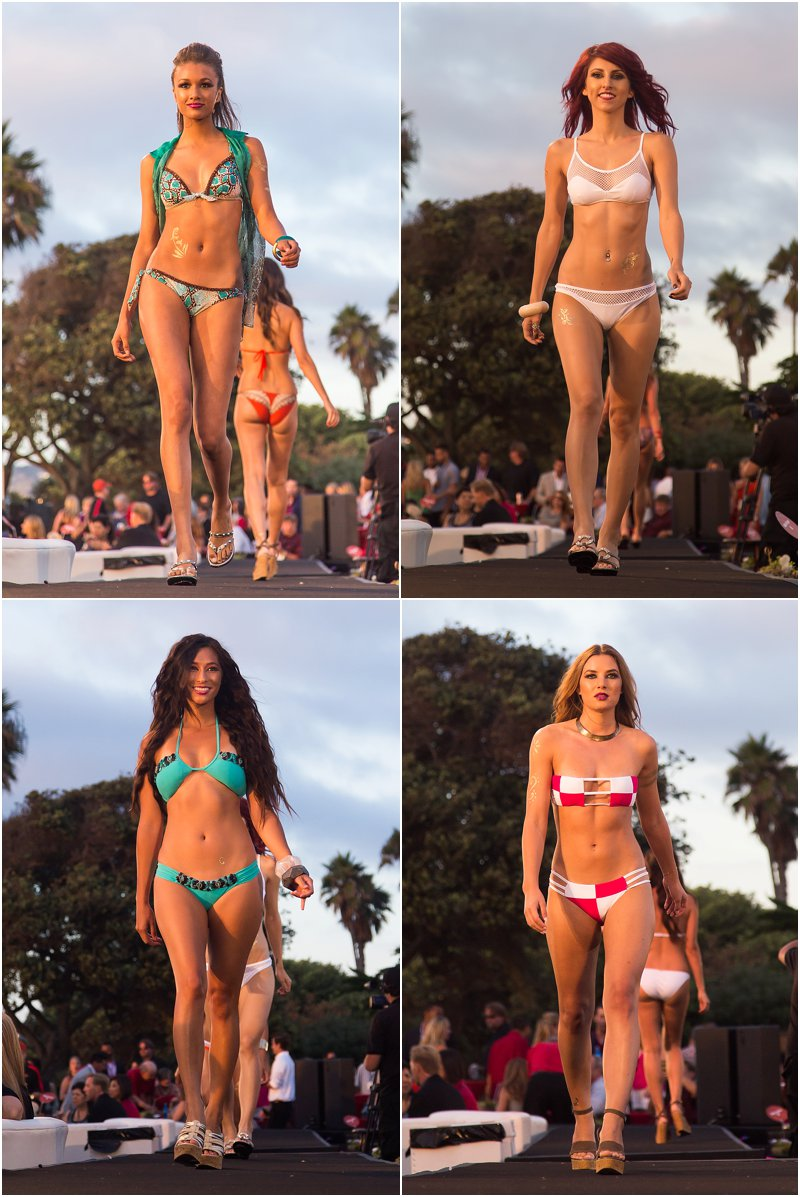 Swimsuit runway fashion show by Sauvage Swimwear.