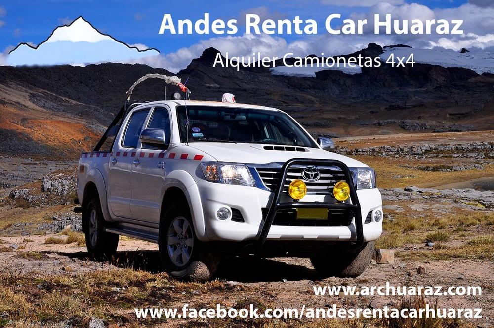 Alquiler camioneta Huaraz