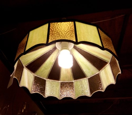 Ceiling light fixture in slag and stained glasses shade the lamp ceiling light fixture in slag and stained glasses shade aloadofball Images