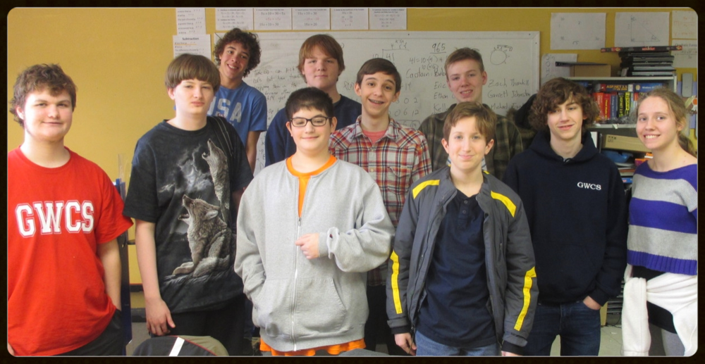 2014-2015 GWCS STEM Club (missing from photo: Kelley, Ronan & Zach)