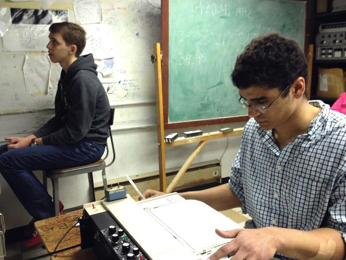 Holden & Joe operating the telescope &chart recorder.