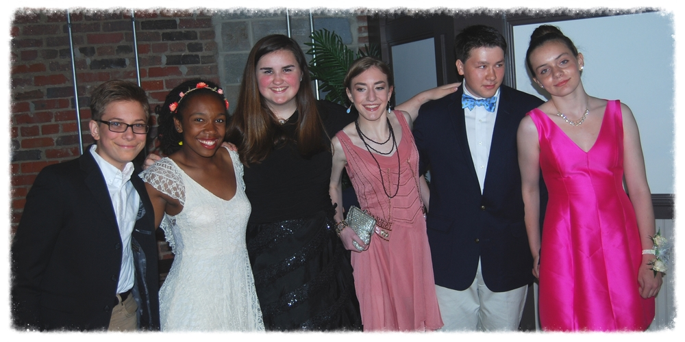 Eric, Friend, Lia, Sophia, Andrew and Kelley at 2014 GWCS Prom