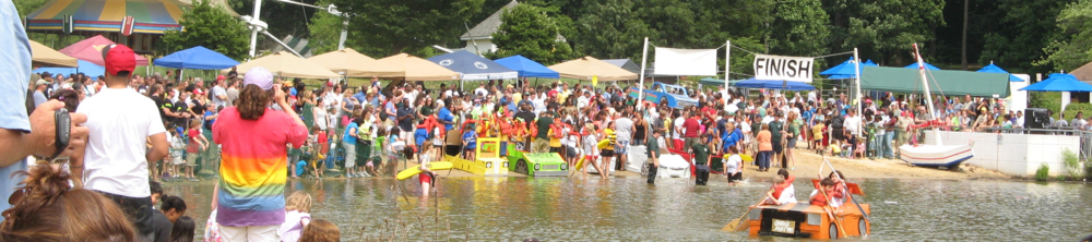 Accotink Cardboard Boat Regatta - Come out and cheer for GWCS on Sunday!