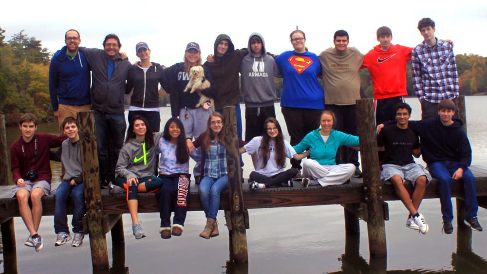 GWCS Seniors at Lake Anna Essay Writing Retreat - Oct. 2014