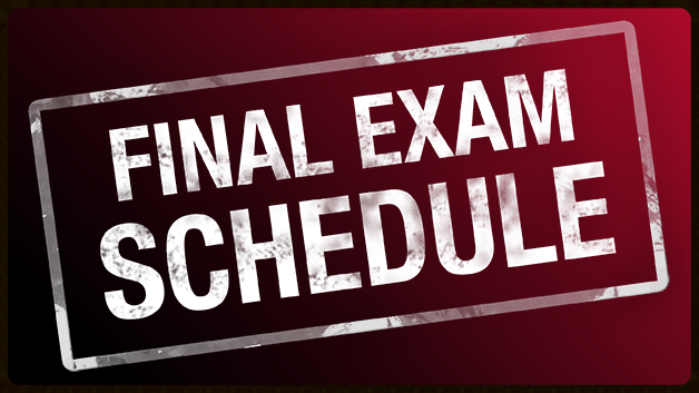 Click for full final exam schedule.