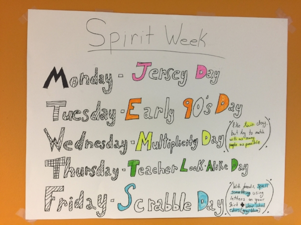 GWCS Spirit Week