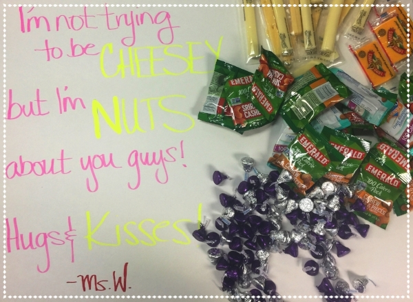 Ms. Warden's Valentine to all the students.