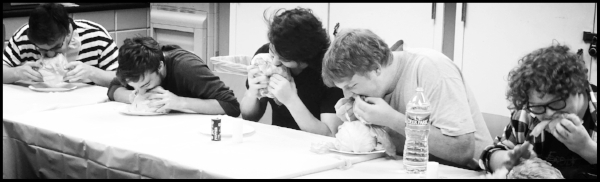 Like this?  Click on image above to see more gory images of students devouring a head of lettuce?