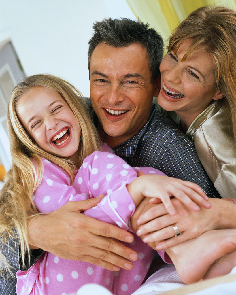 Happy Family Laughing