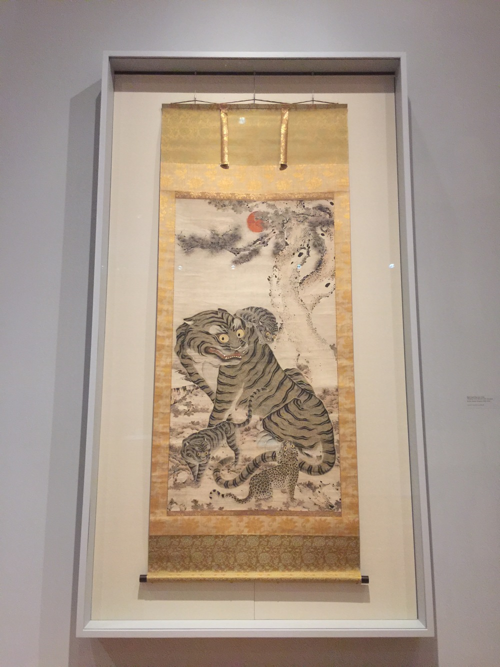 Tigers and Pine,   late 1700s  Hanging scroll; ink and color on paper  Korea, Joseon dynasty (1392-1910)