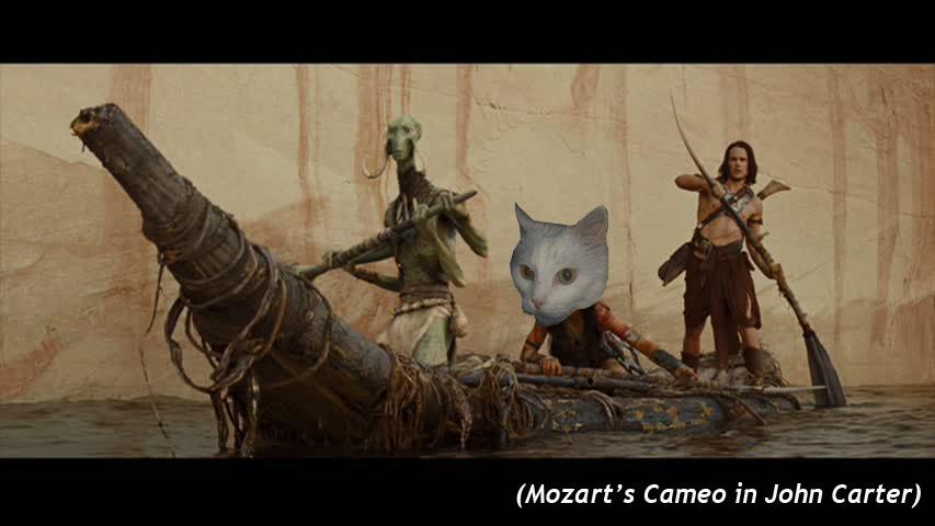 Mozart's Cameo in  John Carter